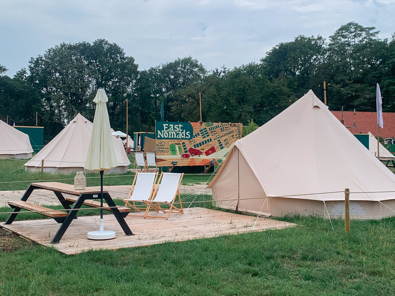 Glamping: East Nomads in Aalten.